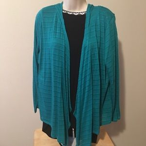 Maurices teal cardigan